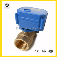 2 way 3-6v 12v mini motorized brass electric ball valve for solar water heaters water filter system