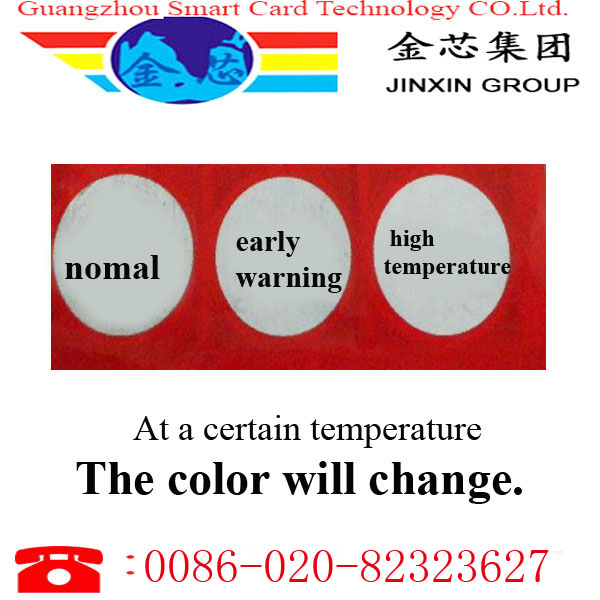 <strong>124</strong> temperature sensetive color change label baby thermometer
