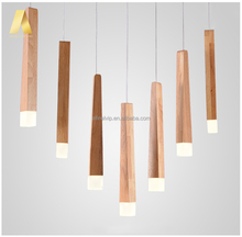 Modern nature wood taper shape acrylic led hanging lighting pendant lamp for sale philippines