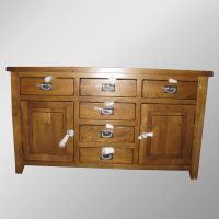 506 Range Distressed Oak Large Sideboards/Oak Wood Buffet Sideboards