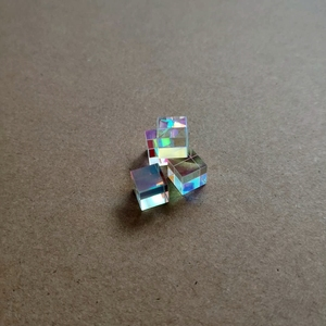 Small Optical glass cube DIY optical polarizer prism X-cube prism