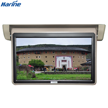 Roof mounted flip down bus monitor hdmi advertising lcd screens