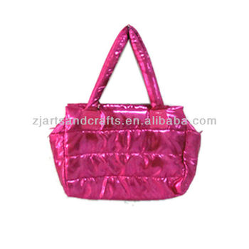 114130 Shiny Quilting Handbag For Lady Big Size