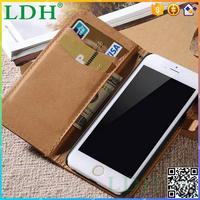 PU leather wallet phone case , professional for Iphone case , no plush for Iphone 6 case
