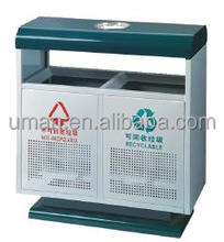 Outdoor metal garbage container/dustbin galvanized recycle bin