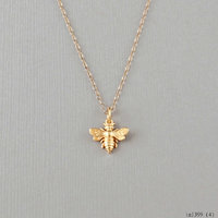 Little Gold Bee Necklace Bumble Bee