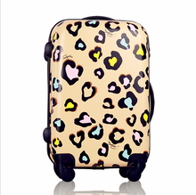 2017 new leopard shaped universal wheel suitcase