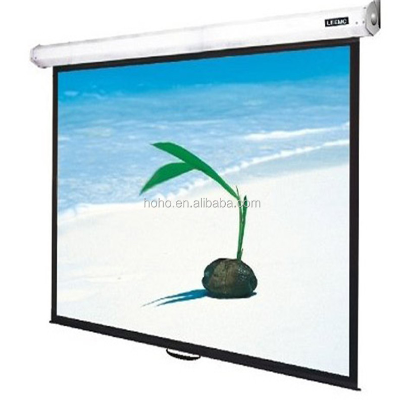 Manual Pull Down Projection Screen/Wall Mount Manual Screen/Spring Roller Mechanism Manual Projector Screen