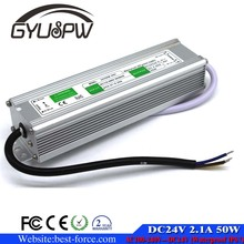 IP67 DC24V 50W Waterproof LED Power Supply AC100-240V To DC 24V Output 2.1A Driver Switch Transformer Outdoor Lighting Equipmen
