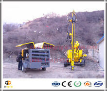 HD100 Hot sales Rock blasting drillin rig for quarry,gold,copper mining drilling