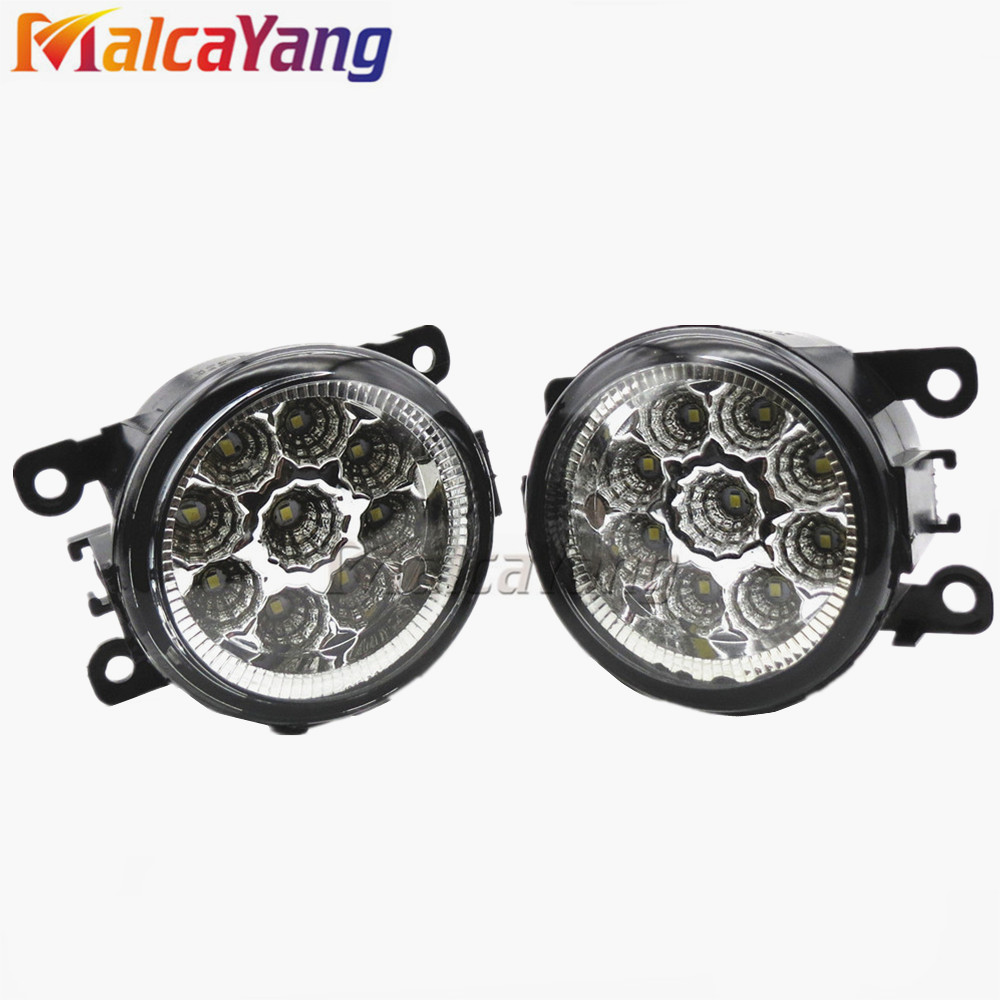 Car-styling 6000K CCC 12V DRL Fog Lamps Lighting LED Lights 55W /1 SET For <strong>Mitsubishi</strong> <strong>L200</strong> OUTLANDER 2 PAJERO 4 GALANT Grandis