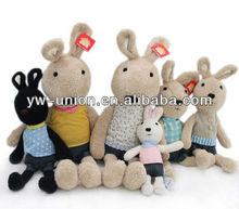 Home Display Family Bunny Rabbit Soft Stuff Toy