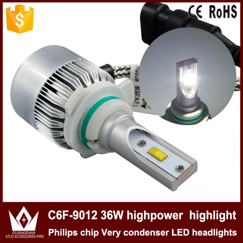 Guangdian new headlight C6F-H1 highpower Phis chip LED H1 headlight 36W !