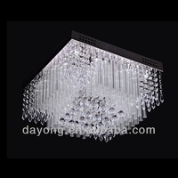 Modern design decorative colored glass chandeliers