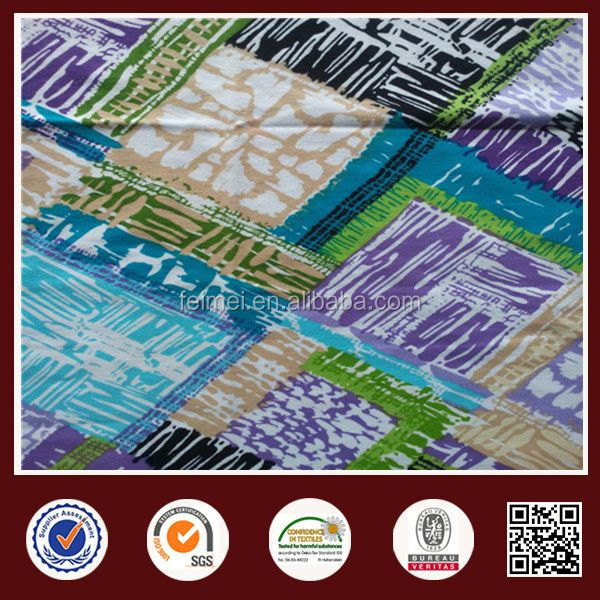 The modern environmental protection Spandex African Wax Printed Cotton Fabric