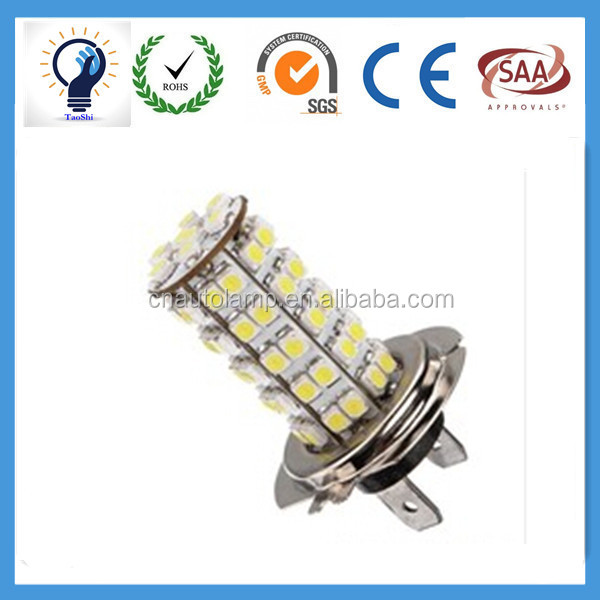 H7 68 SMD 3528 1210 LED White Xenon Car Auto Headlight Bulb Fog Lights Lamp For DC 12V Wholesale