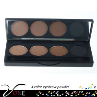 private label eyebrow herbal eyeshadow powder 4 colors with mirror and brush