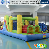 YARD Kids Bounce House Inflatable Obstacle Course Bouncy Castle With Blower