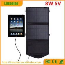8W portable foldable outdoor usb solar charger best quality solar charger