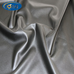 Hot sell knit stretch fabric synthetic faux leather pu faux sheepskin fabric