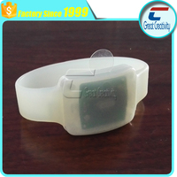 Custom Cheap Price radio control rfid silicone wristbands with led lights