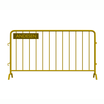 Temporary fence for crowd control metal barricade 2.5m long x 1.1m high pedestrian barrier fence