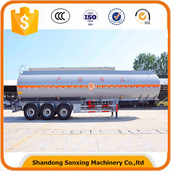 Oil Milk Chemical Transport 3axles Aluminium