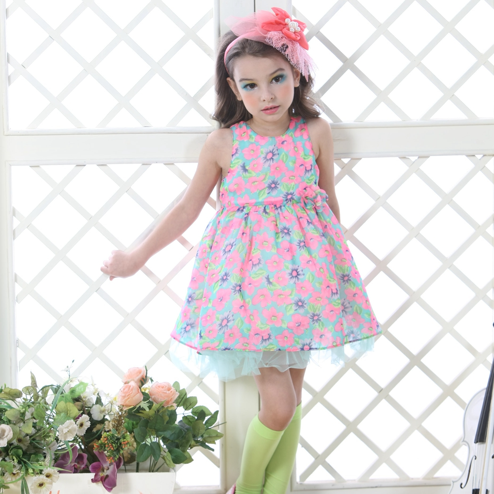 Hot Sale Wholesale Girl Dress Summer Candy Boutique Dreses