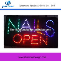 2014 Hot Sale Indoor Nails LED OPEN Sign