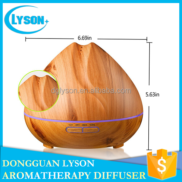 Wood <strong>Grain</strong> 7 Colors Changed LED Aromatherapy Humidifier Cool Mist