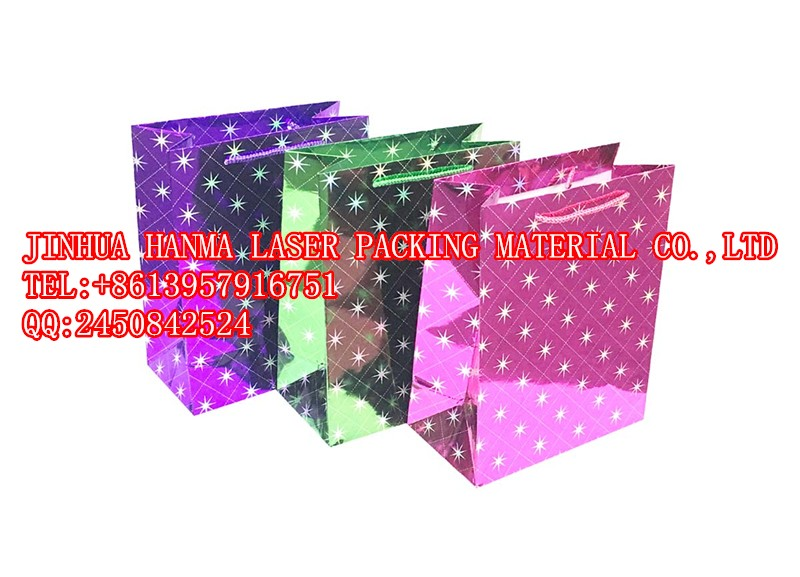 Eight Pointed Star holographic wrapping coated film for lamination or packing on whole sale