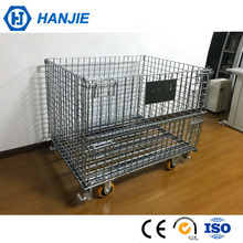 Logistic cargo security metal rolling cage, wheeled storage containers