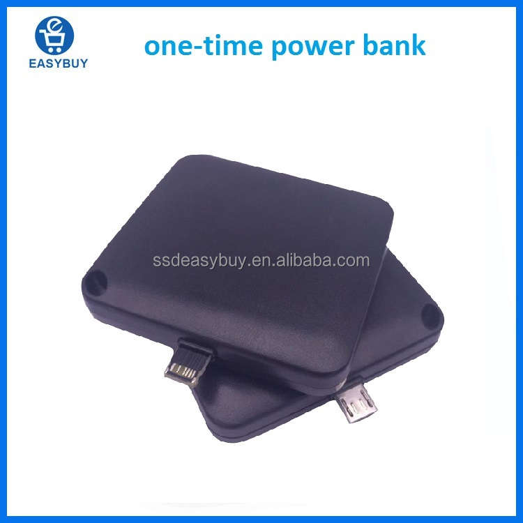 Hot Sale Product One Time Use Power Bank 1000mAh Disposable Power Bank