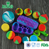 Custom FDA approved food grade non-stick stackable square lego style 9ml small slick oil silicone customized bho oil container