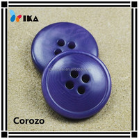 Natural painted corozo buttons for garment