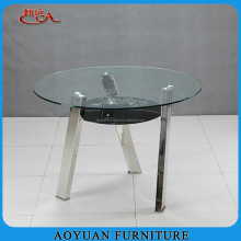 round double layer dining table