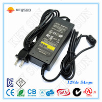 Mini Size 12V 5A 60W DC Switching Power Adapter Driver For LED Strip Light Display