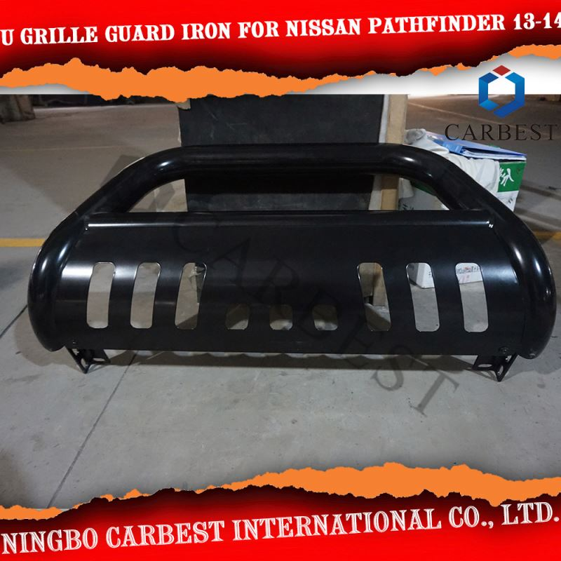 High Quality U GRILLE GUARD Iron painted black For NISSAN PATHFINDER 2013-2014