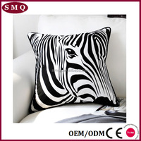 Latest zebra design custom print wholesale sofa decorative cotton pillow case