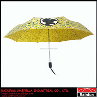 High quality windproof 3-section full automatic umbrella