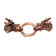 Hot Sale Dragon Antique Copper Hook Clasps For Leather Bracelet
