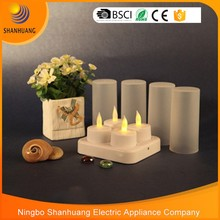 New LED tea light candle 4pcs set cheap LED candle tea light Rechargeable led candle