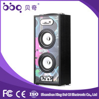 Super bass Karaoke function bluetooth speaker built in amplifier with usb port