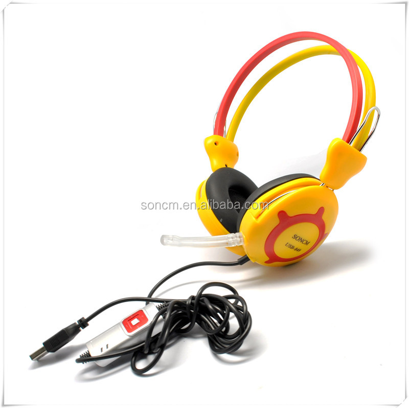 Professional wired headphones with mic for Laptop form china electronics market