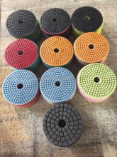 Diamond hand Floor Granite Angle Grinder Dry Polishing Pad Hot Sale