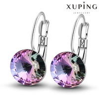 (28457)Xuping Latest Fashion Diamond Crystal From Swarovski Jewelry Elegant Crystal Earrings