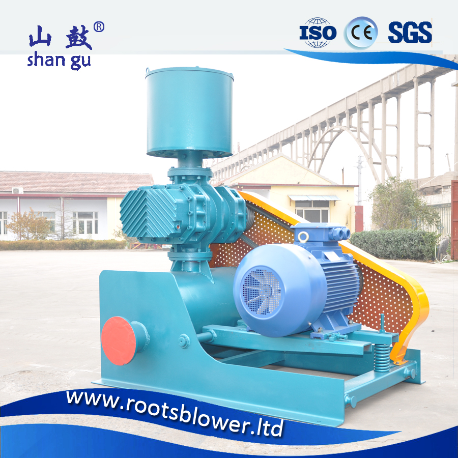 100kW power tri-lobe sand transport blower