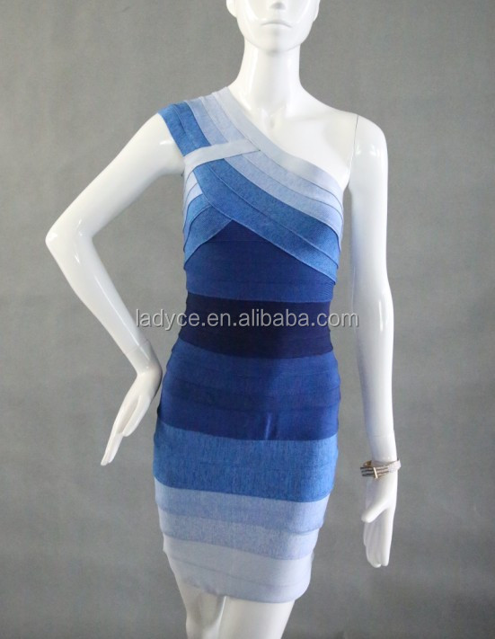 New style hot-selling gradient blue pakistani frocks style good quality low price