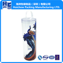 Hinged recyclable clear pvc plastic packaging box blister tube for golf ball manufacturer and exporter