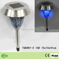 High quality stainless steel outdoor waterproof solar garden stake lamp